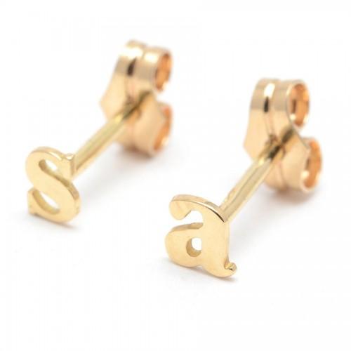 Pendientes Oro Letras Personalizables