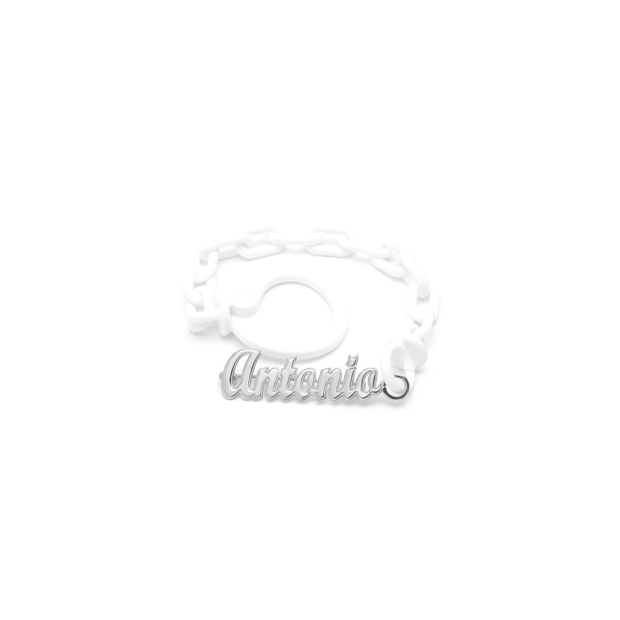 f40717b586c9 Chupetero Plata Bebé Nombre Personalizable