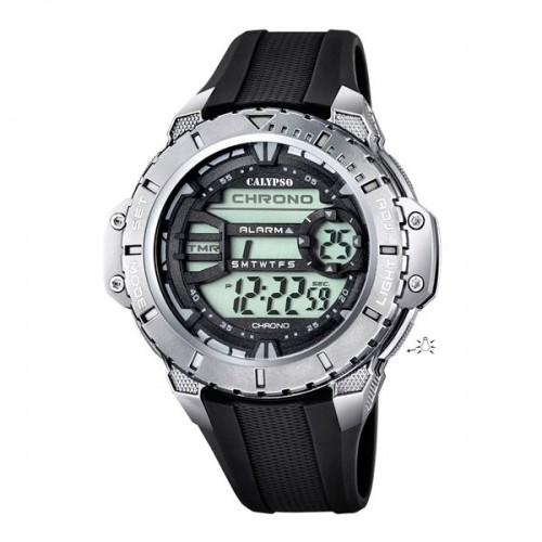 Reloj Calypso Digital Caucho Negro