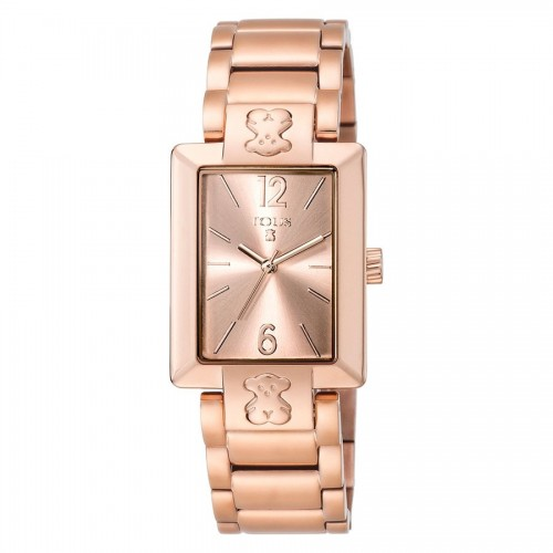 Reloj Tous Dorado Rosa Brazalete Plate