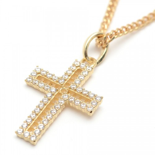 Cruz Oro Calada Circonitas