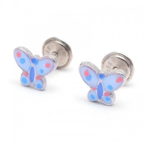 Pendientes Plata Mariposa Azul