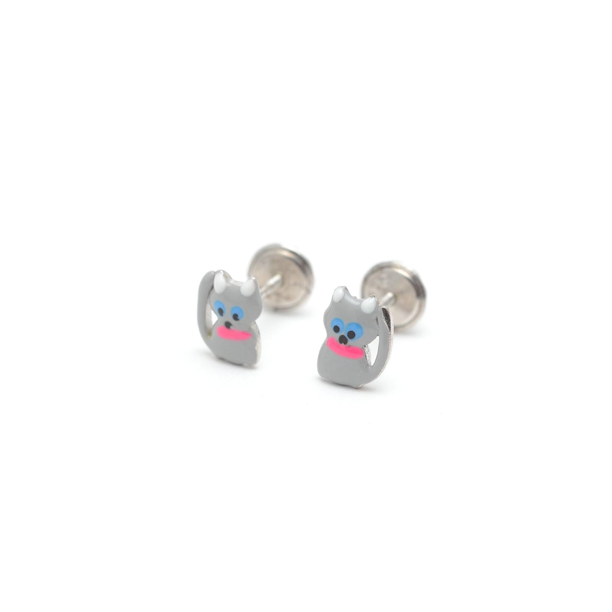 271f38cbf5b5 pendientes gato nina - Los pendientes con forma de animales