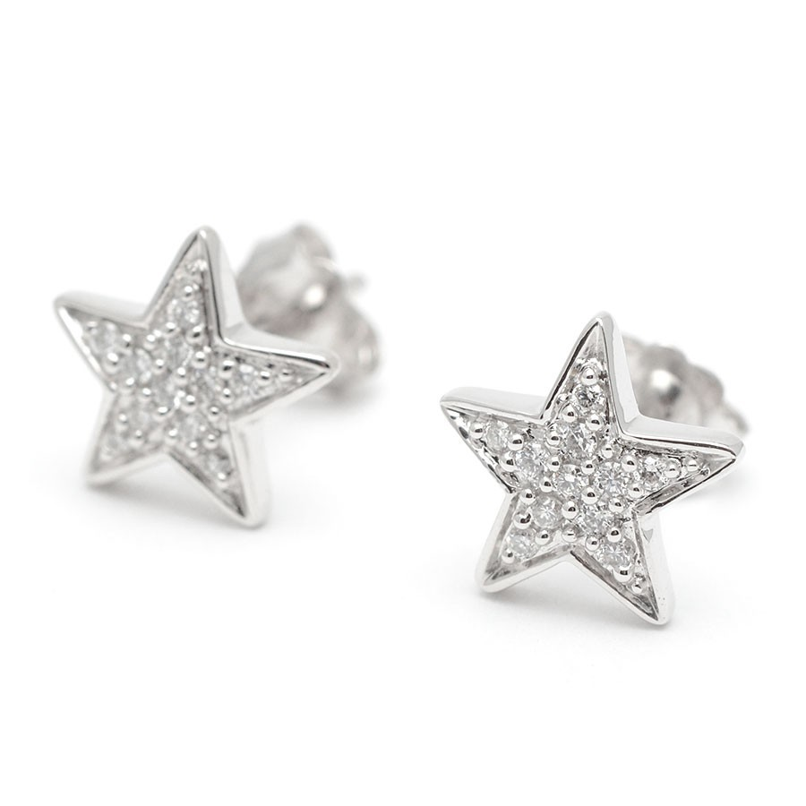 gran venta fb49a 128f8 Pendientes Diamantes Oro Blanco Estrella