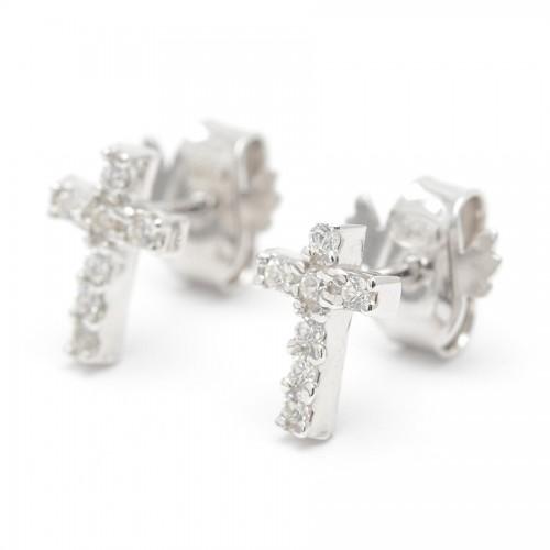 Pendientes Plata Cruz Cristales