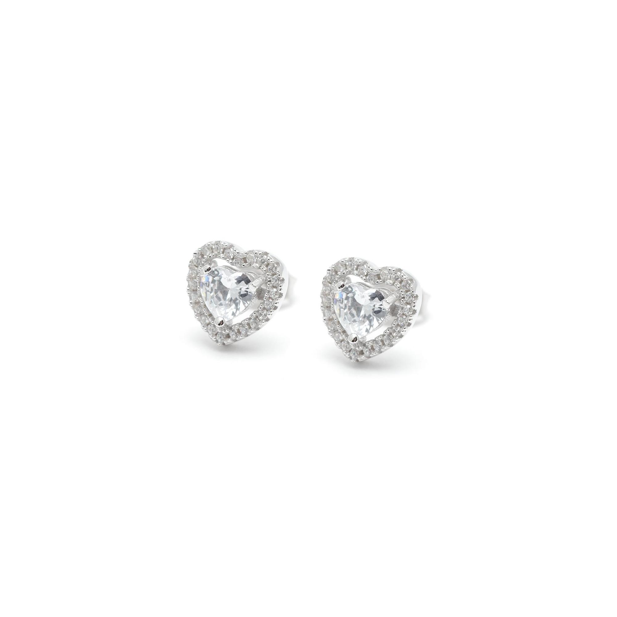 ahorrar b6122 d2dd2 Pendientes Plata Corazón Cristales