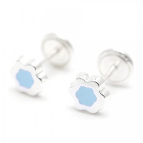 Pendientes Plata Estrella Azul