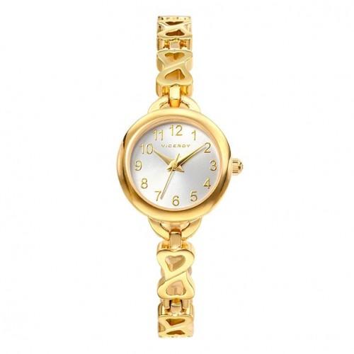 Reloj Viceroy Dorado Corazones Brazalete