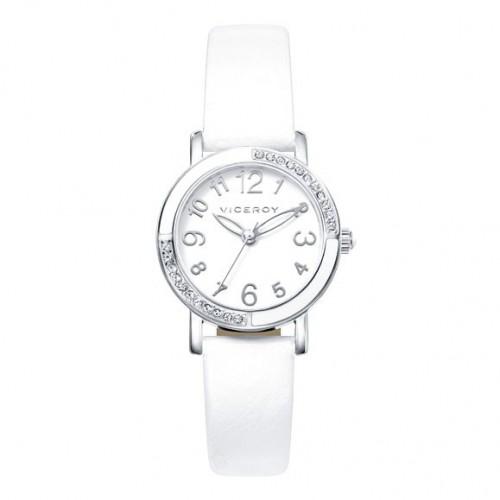 Reloj Viceroy Niña Cristales Correa Blanca