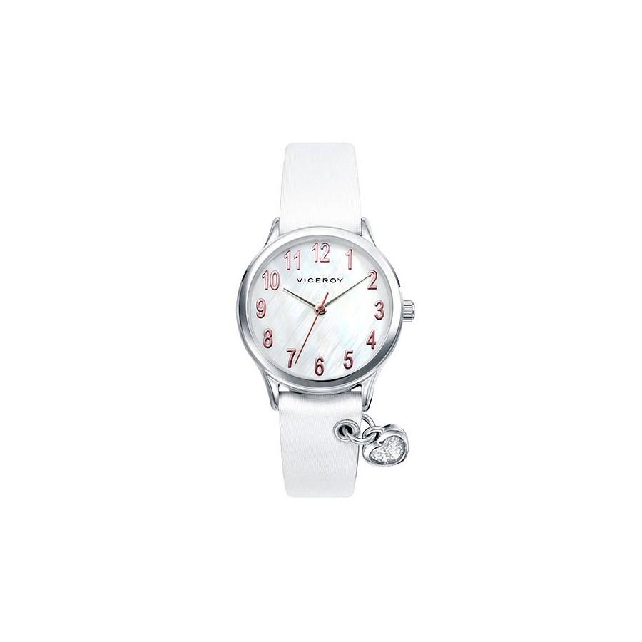 c44db520f1a8 Reloj Viceroy Niña Comunión Colgante Corazón Correa Blanca 42202-05