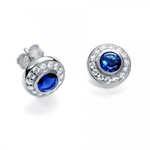 Pendientes Viceroy Plata Azul Cristales