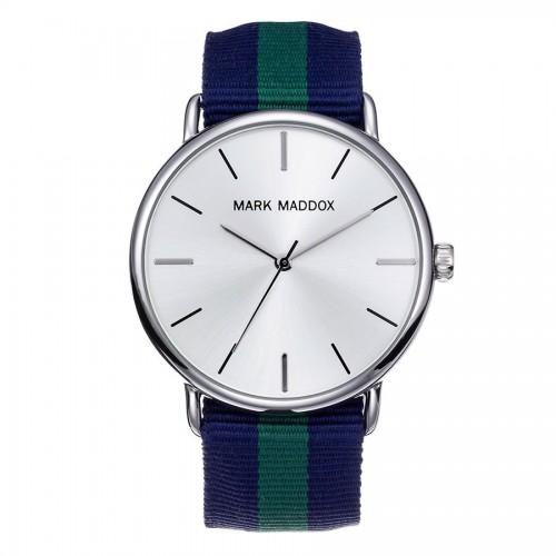 Reloj Mark Maddox Correa Tela Azul Verde