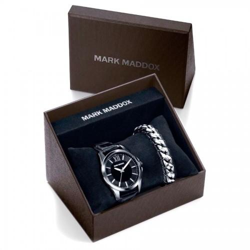 Estuche Mark Maddox Chico Reloj Negro + Pulsera