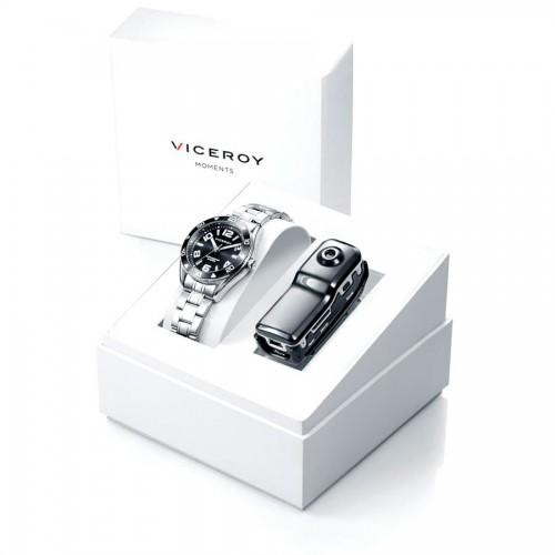 Estuche Viceroy Reloj Negro Brazalete Acero + Cámara de vídeo