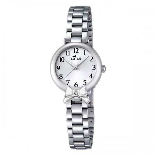 Reloj Lotus Lazo Blanco Brazalete Acero