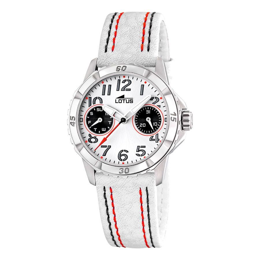 21c240eeff5c Reloj Lotus Chica Niña Comunión Deportivo Correa Blanca 15653-9