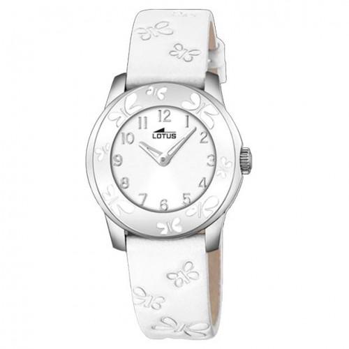 Reloj Lotus Mariposas Correa Blanca