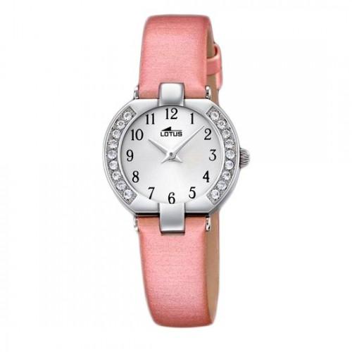 Reloj Lotus Cristales Correa Rosa