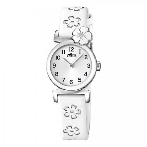 Reloj Lotus Flores Correa Blanca