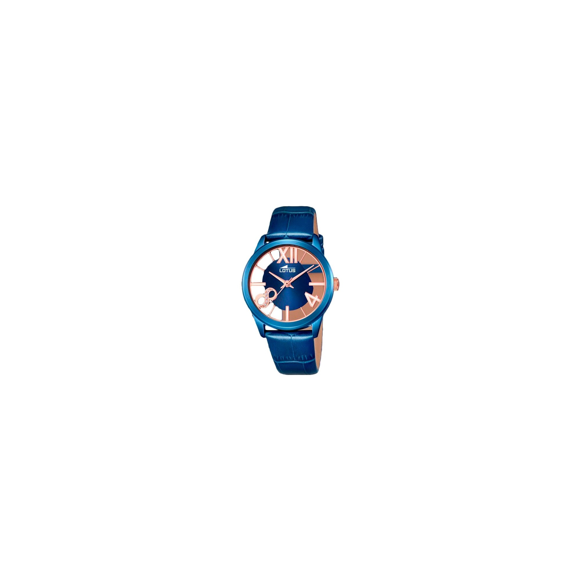 dd85b55636c5 Reloj Lotus Chica Azul Dorado Correa 18307-1