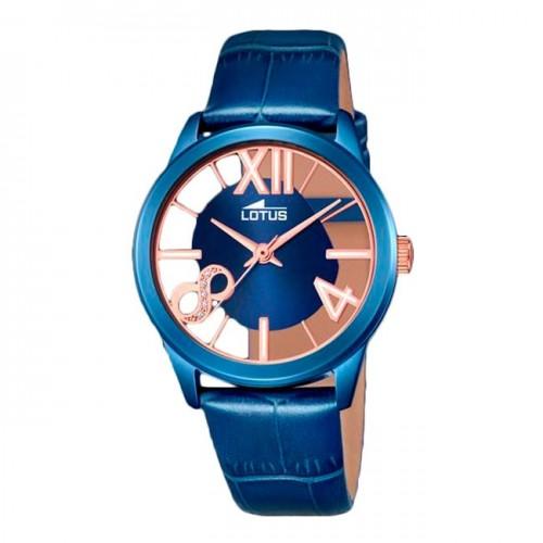 Reloj Lotus Azul Dorado Correa