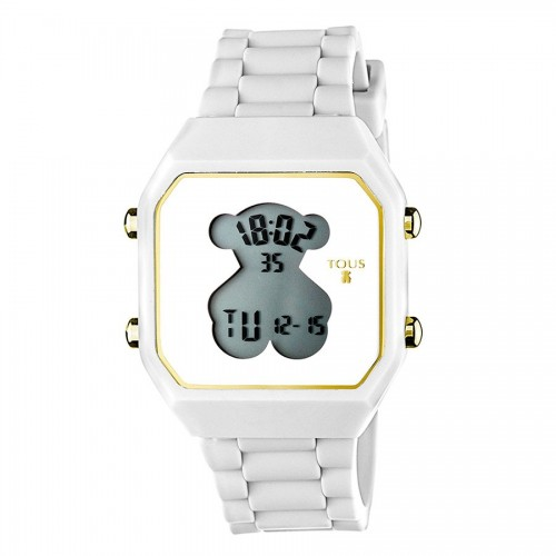 Reloj Tous D-Bear Digital Goma Blanca