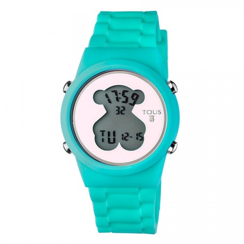 Reloj Tous D-Bear Digital Goma Turquesa