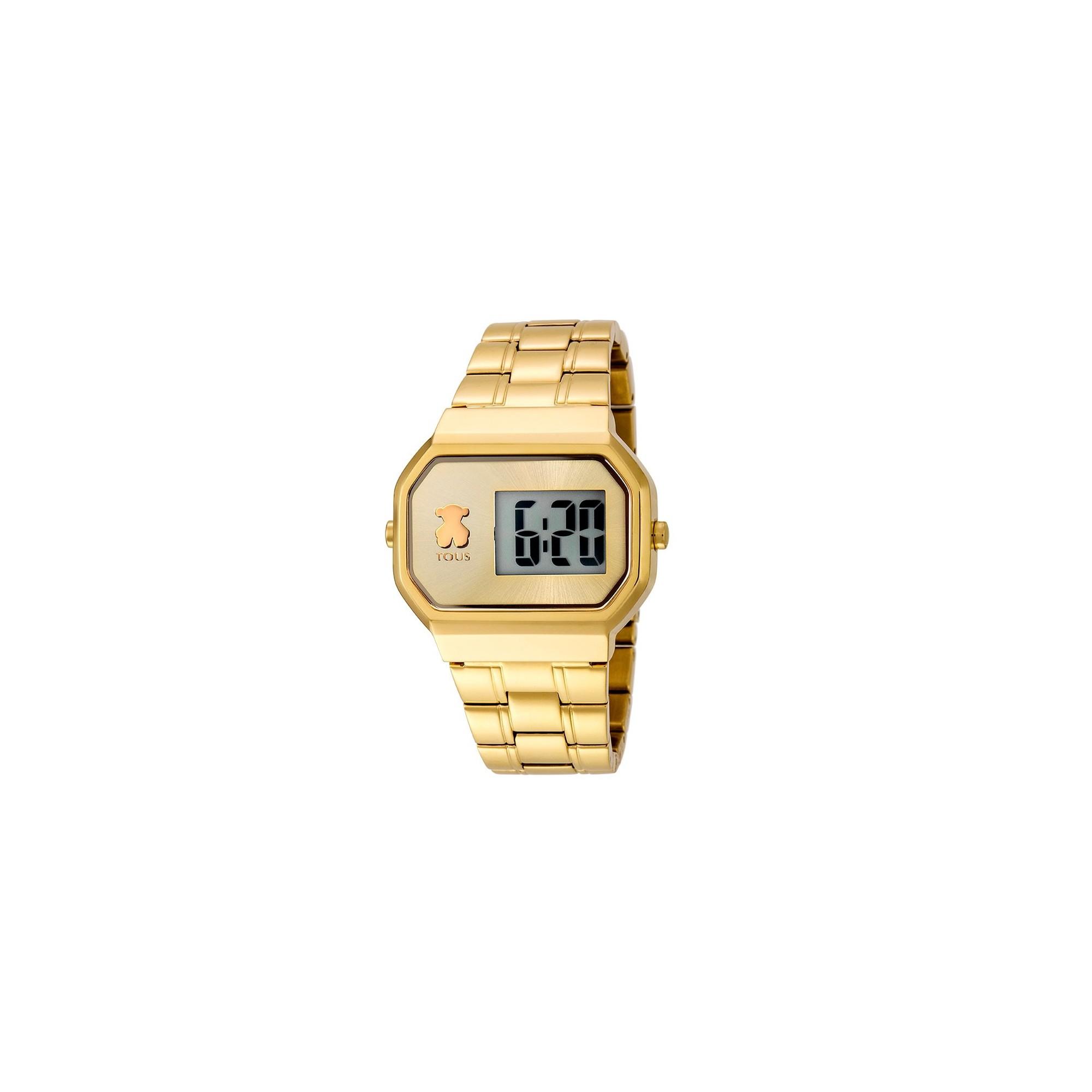 a94d077a6601 Reloj Tous Chica D-Bear Digital Dorado Brazalete 600350300