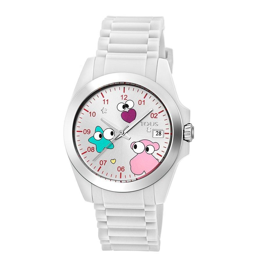 Reloj Tous Drive Fun Faces Blanco Correa