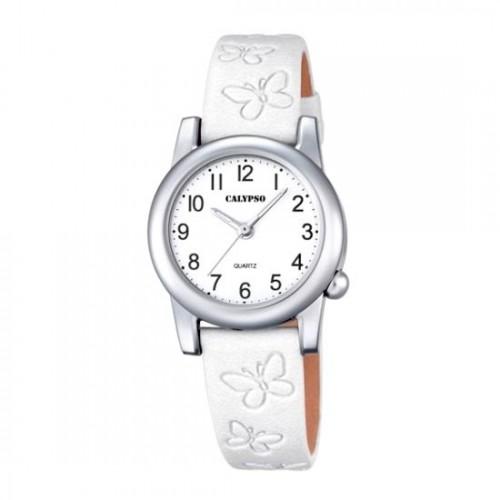 Reloj Calypso Blanco Correa Mariposas