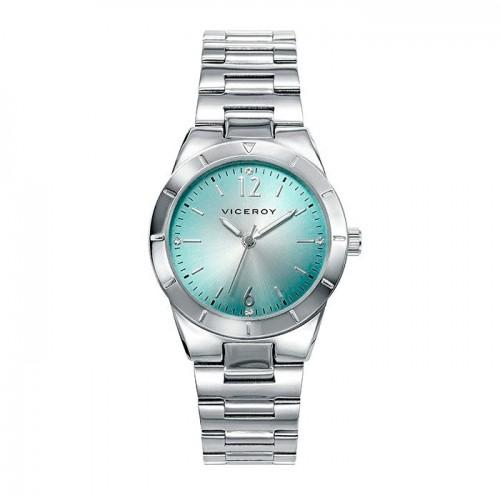 Reloj Viceroy Azul Turquesa Brazalete Acero
