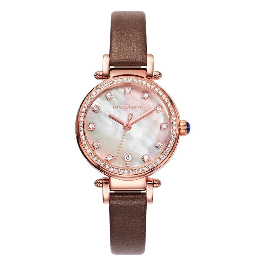 4e3b1a6ccaa6 Reloj Chica Viceroy Dorado Cristales Correa Marron Penélope Cruz ...