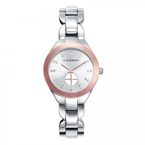 Reloj Viceroy Dorado Sumergible Brazalete Acero