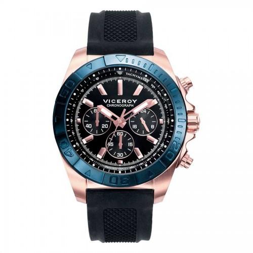 Reloj Viceroy Dorado Deportivo Correa Negra