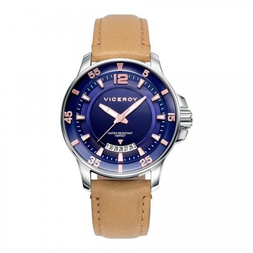 Reloj Viceroy Azul Sumergible Correa Marrón