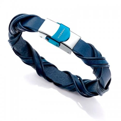 Pulsera Viceroy Acero Piel Azul