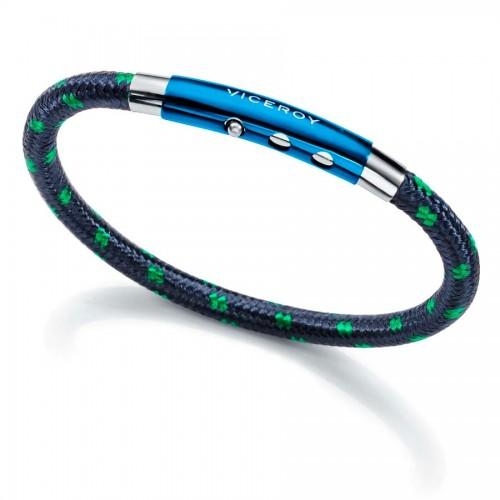 Pulsera Viceroy Acero Cordón Azul Verde