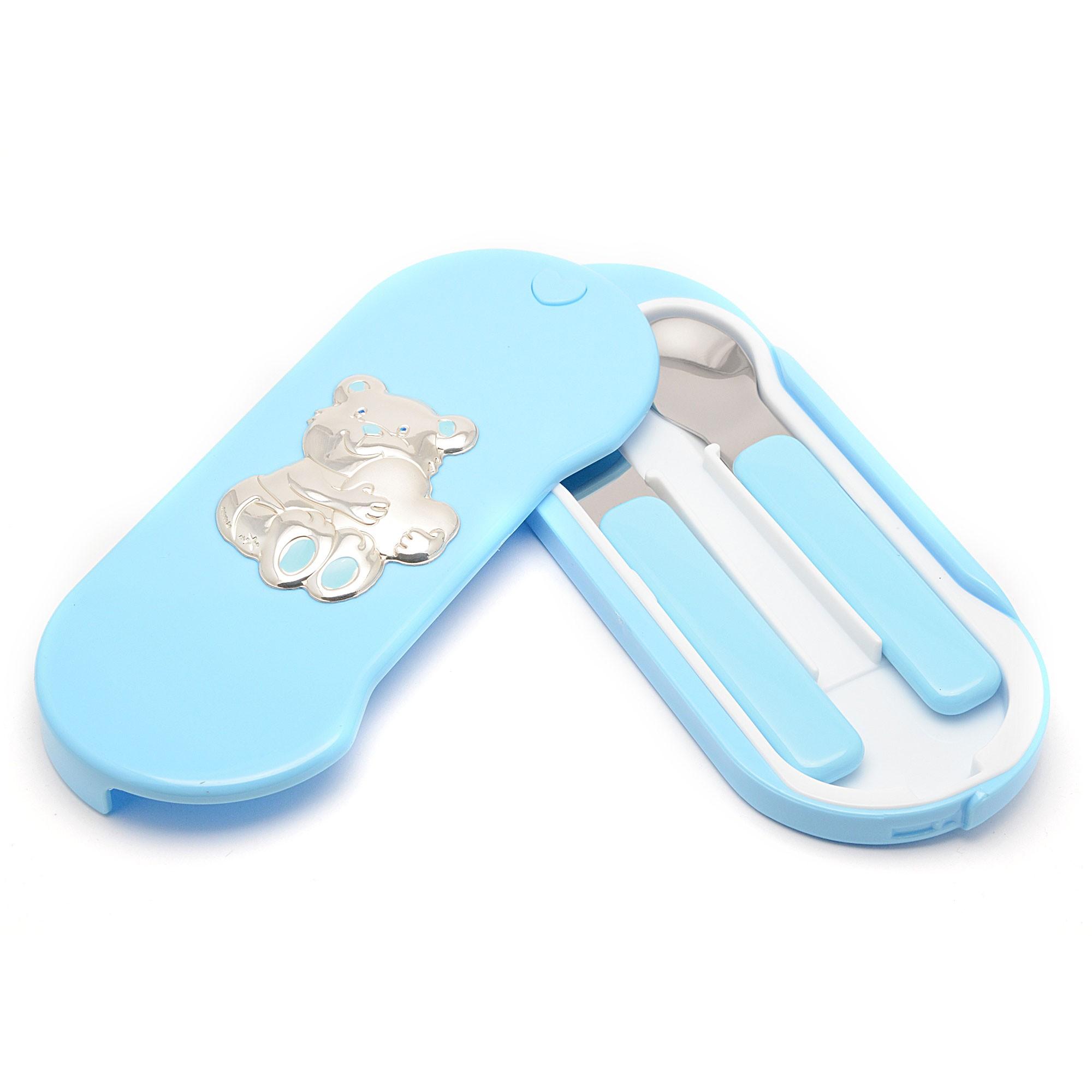 Cubierto beb azul osito - El osito azul ...