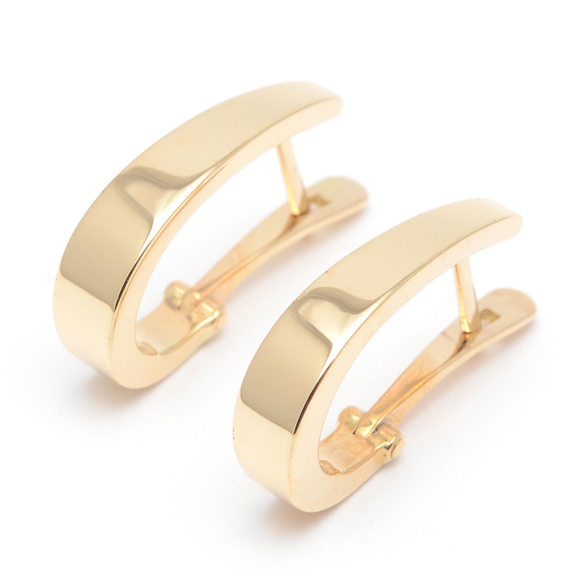 934c9b0d5748 Pendientes de oro de aro criollas diseño moderno