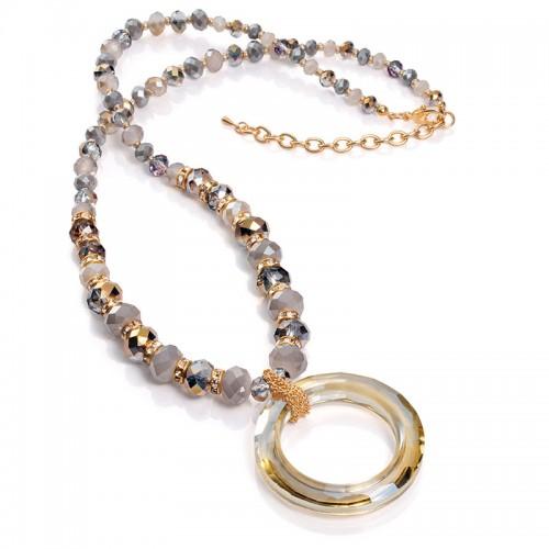 Collar Viceroy Largo Dorado Cristales