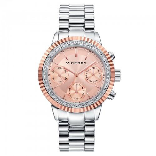 Reloj Viceroy Chica Cristales Brazalete Acero