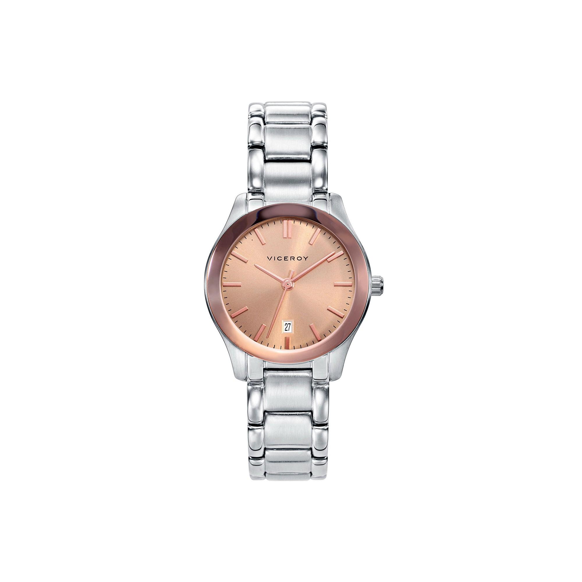 2fedec223f2f Reloj para chica Viceroy dorado con brazalete de acero 471066-97