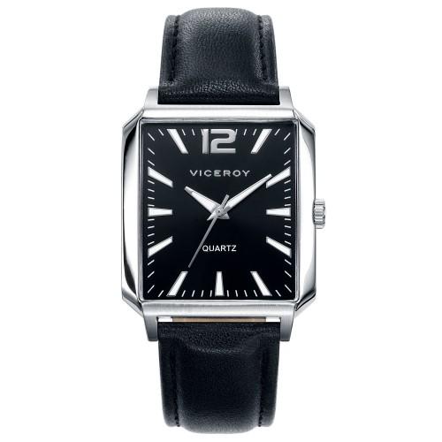 Reloj Viceroy Cuadrado Negro Correa Negra