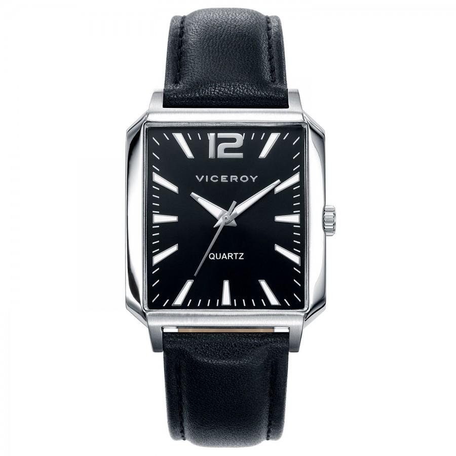 1bf4f352d3cb Reloj para chico Viceroy cuadrado con correa negra 401043-55