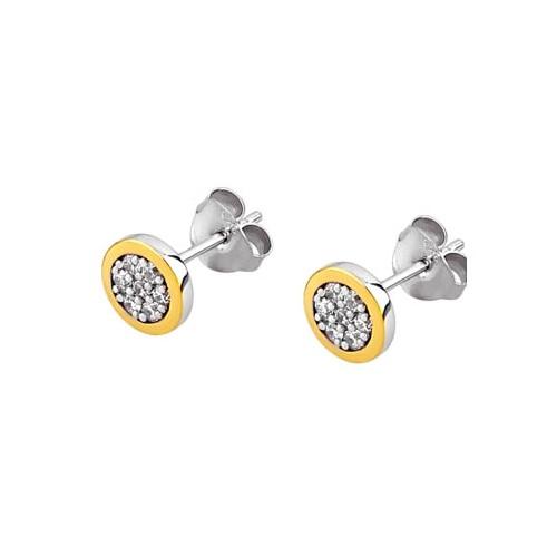 Pendientes Plata Lotus Cuadrados Cristales