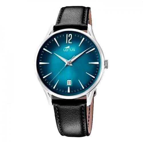 Reloj Lotus Azul Vintage Correa Negra