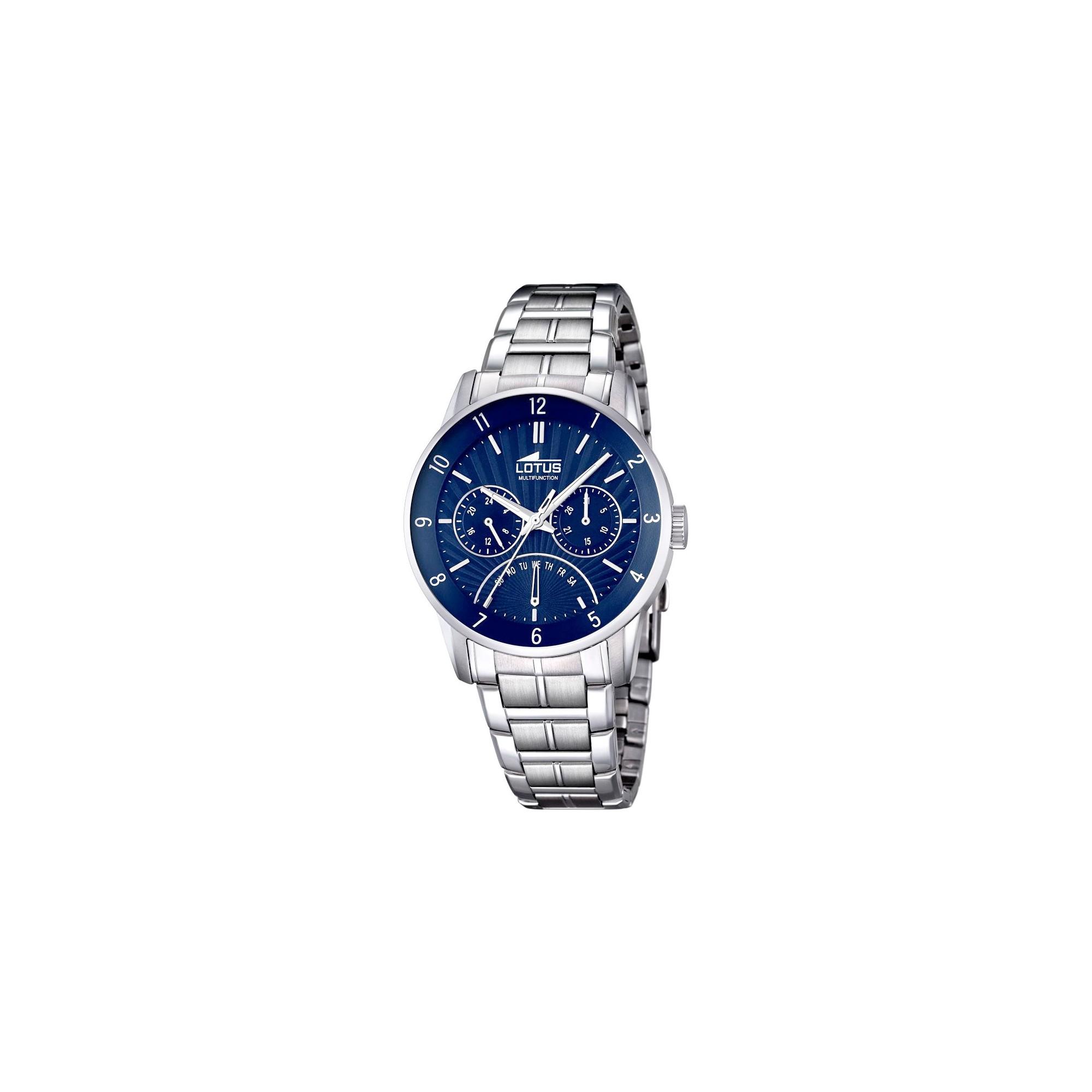 Reloj Para Chico Lotus Azul Con Brazalete De Acero