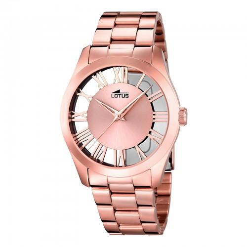 Reloj Lotus Transparente Brazalete Acero
