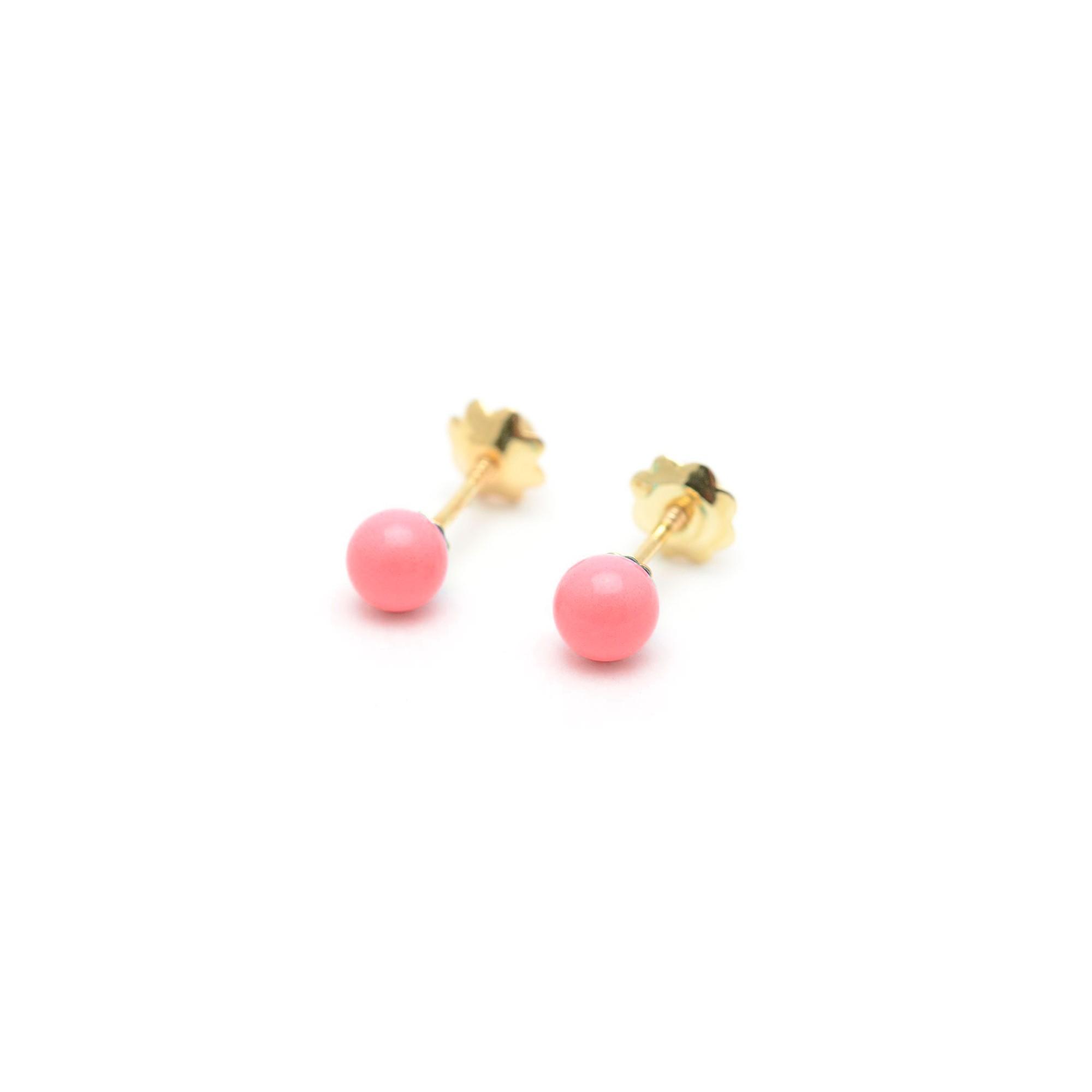 diseño de calidad d467f 8ad36 Pendientes Oro Bebé Rojos Coral
