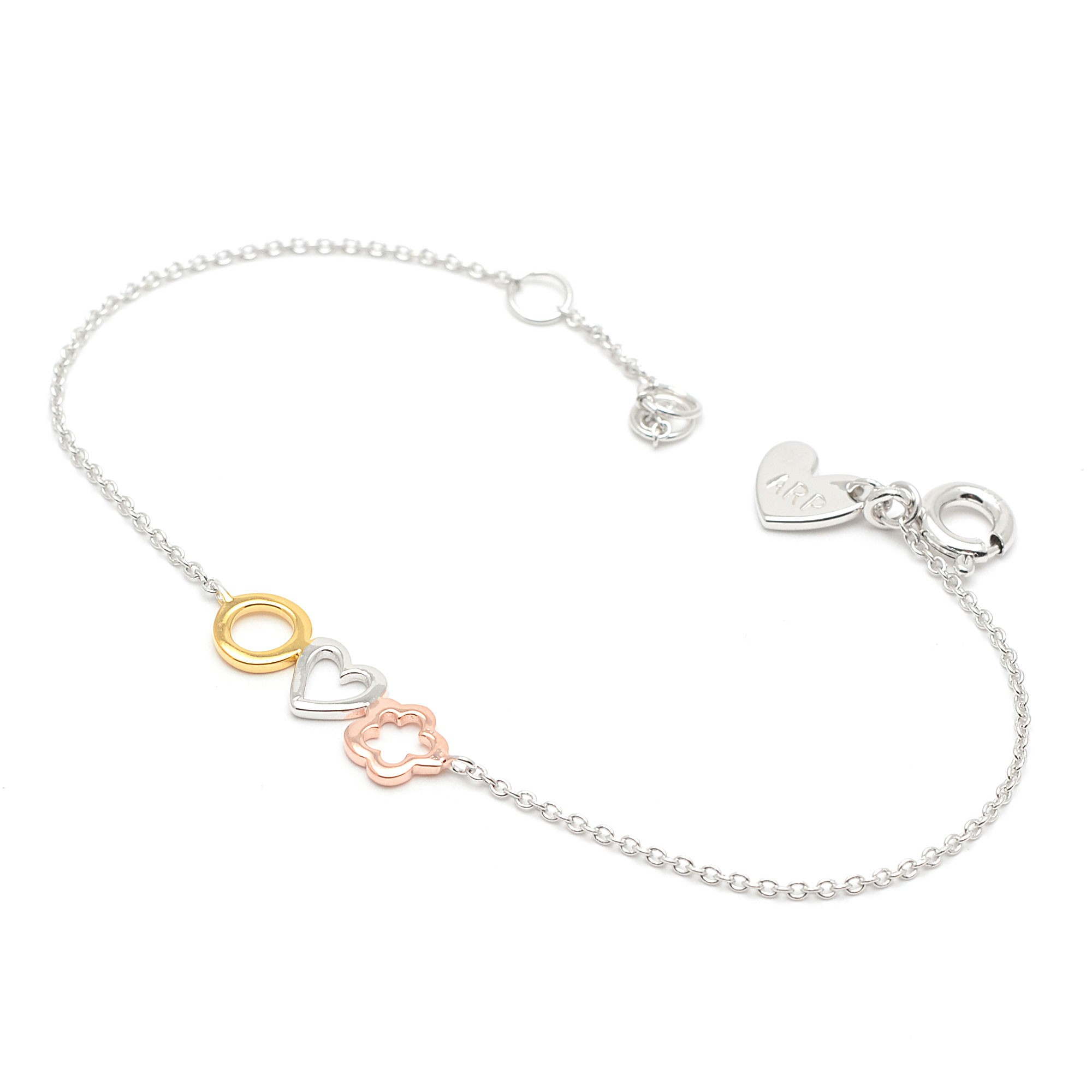 a0b51f07dc15 Pulsera de plata de Agatha para niña con forma de corazón